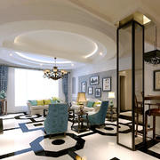 地中海风格大户型客厅天花设计效果图鉴赏