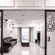 现代中式风格客厅隔断设计装修效果图鉴赏