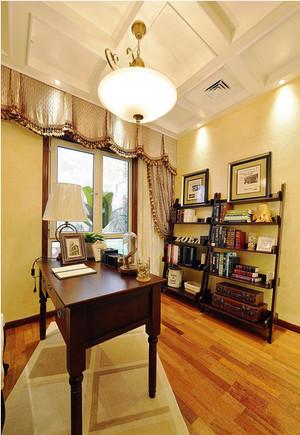 仿古美式风格精致三室两厅装修效果图赏析