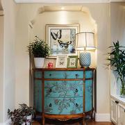 复古美式风格进门门厅设计装修效果图