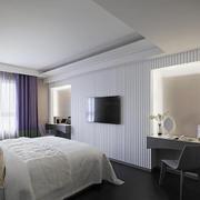 8平米现代简约风格白色女生卧室装修效果图