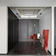 后现代风格大户型玄关长方形吊顶设计装修效果图