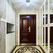 美式风格大户型进门玄关墙柜设计装修效果图