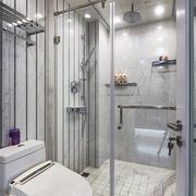 5平米现代简约风格卫生间白瓷砖装修效果图