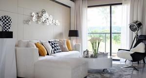 现代简约白色主题小户型室内设计装修效果图