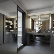 后现代风格简约大户型大理石洗漱台装修效果图