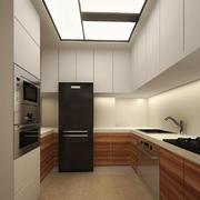 现代极简主义风格大户型厨房墙柜设计装修效果图