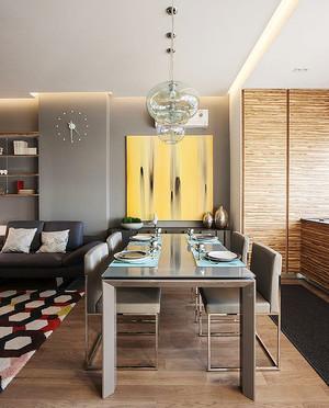 简欧风格小户型餐厅吊顶装修效果图