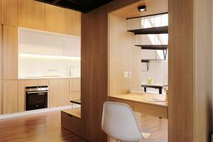 现代loft简约风格惬意跃层男生公寓装修效果图