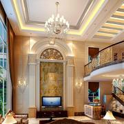 欧式风格豪华别墅客厅吊顶装修效果图鉴赏