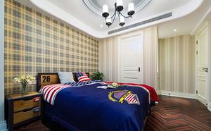大户型仿古美式风格混搭室内装修效果图实例