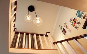 简欧风格复式楼中空吊顶设计装修效果图