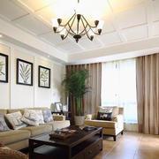 100平米美式风格客厅装修效果图赏析