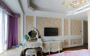 大户型欧式风格清新公寓设计效果图实例