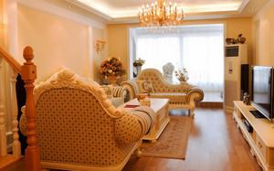 105平米欧式风格客厅吊灯效果图鉴赏