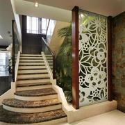 欧式风格复式楼大理石楼梯设计效果图