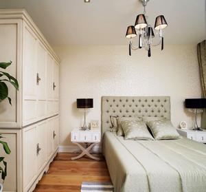 90平米欧式风格卧室橱柜效果图赏析