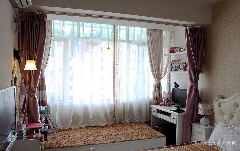 10平米简欧风格儿童房卧室榻榻米装修效果图
