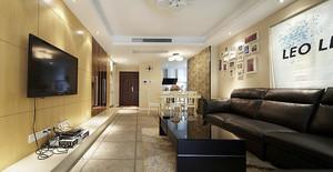 87平米现代风格精装修样板房装修效果图实例