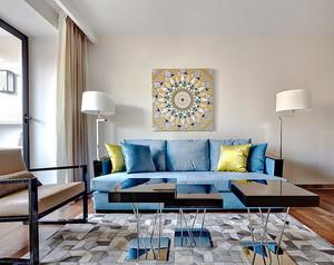 现代简约风格温馨两居室装修效果图实例