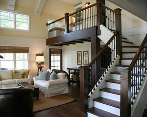 简欧风格复式楼楼梯设计效果图赏析