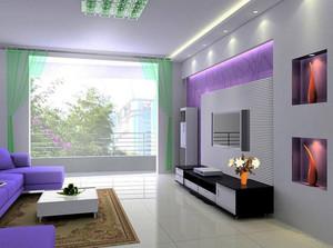 现代简约风格两居室客厅装修效果图赏析