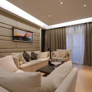 现代风格小户型客厅沙发效果图