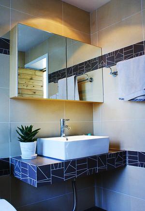 现代极简主义风格卫生间洗漱台装修效果图