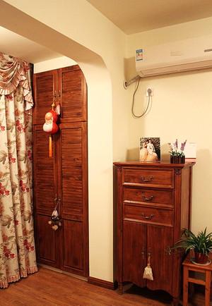 78平米美式乡村风格进门玄关设计装修效果图
