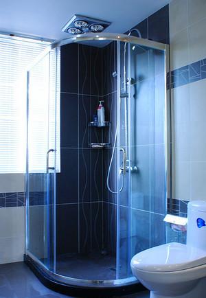 5平米现代简约风格卫生间隔断设计装修效果图