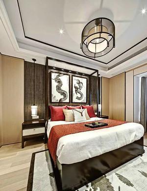 112平米新中式风格室内整体设计装修效果图