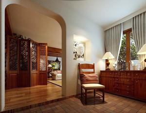 97平米东南亚风格三室一厅设计装修效果图鉴赏