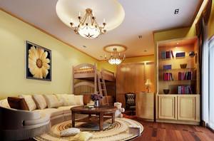 中西风格混搭246平米两层别墅设计装修效果图