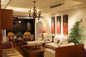89平米东南亚风格室内实木家具装修效果图