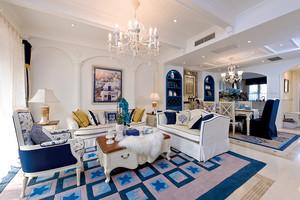 地中海风格复式楼室内设计整体装修效果图实例