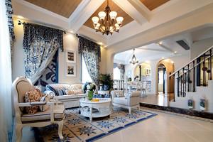 186平米地中海风格自然舒适别墅室内设计装修效果图