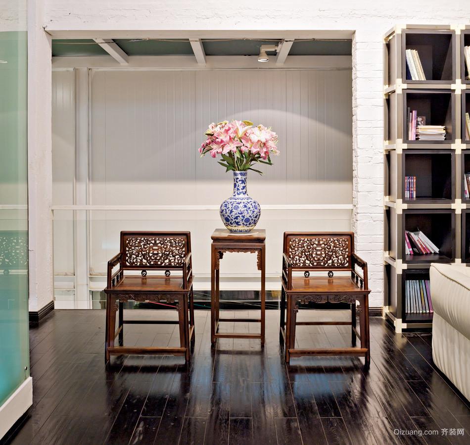 现代简约风格混搭中式会客厅装修效果图