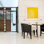 复古中式风格客厅隔断门设计装修效果图鉴赏