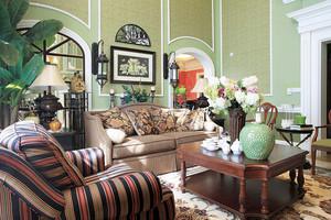 美式风格时尚色彩混搭两居室装修效果图