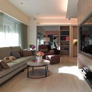 20平米现代简约风格长方形客厅装修效果图