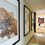 现代简约风格别墅过道挂画设计装修效果图