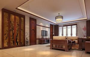18平米古典中式风格实木客厅装修效果图赏析