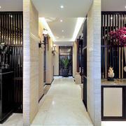 东南亚风格大户型玄关过道设计装修效果图