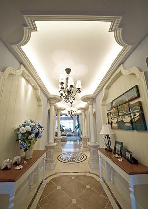 地中海风格两层别墅进门玄关过道天花装修效果图