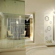 现代简约大户型不规则客厅隔断设计效果图