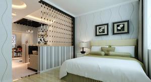 小户型现代简约卧室客厅隔断装修效果图鉴赏