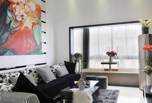 后现代风格精致客厅阳台榻榻米装修效果图赏析