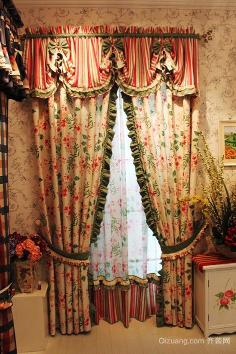 美式田园风格窗帘设计效果图赏析
