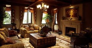 古典欧式风经典奢华精致自建别墅室内装修效果图实例