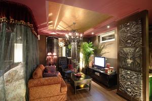 东南亚风格异域风情三室两厅装修效果图鉴赏
